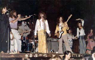 Anjuna Jam Band at Full Moon Party Anjuna, Гоа, Февраль 1978